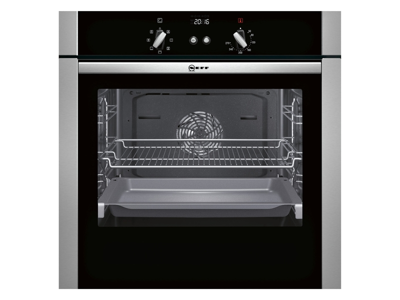 neff slide hide built in single electric oven kings and. Black Bedroom Furniture Sets. Home Design Ideas