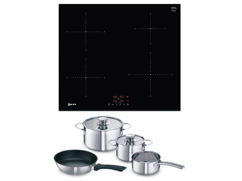 neff induction hob plus free pan set kings and barnhams. Black Bedroom Furniture Sets. Home Design Ideas