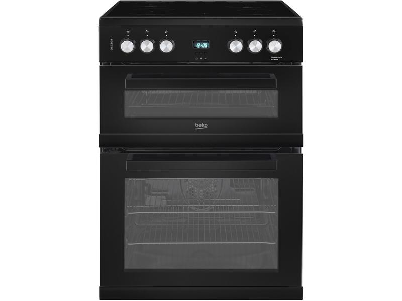 Beko EDC633K 60cm Double Oven Electric Cooker with Ceramic Hob - Black - A/A Rated