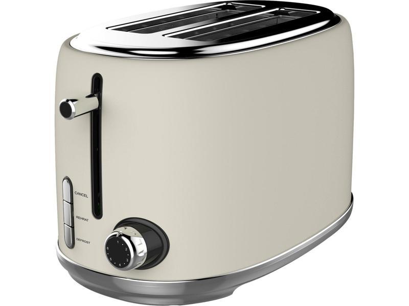 Linsar KY865CREAM 2 Slice Toaster - Cream