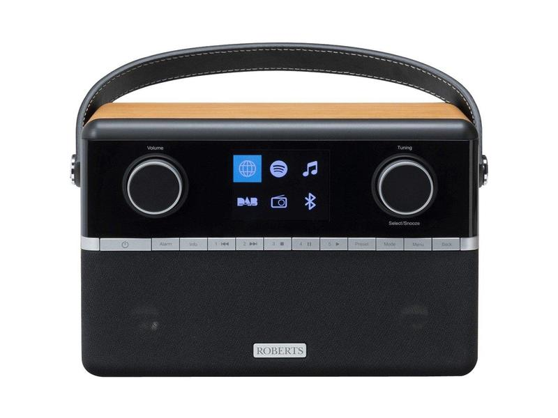 Roberts STREAM94I DAB Portable Internet Radio - Black/Wood Veneer