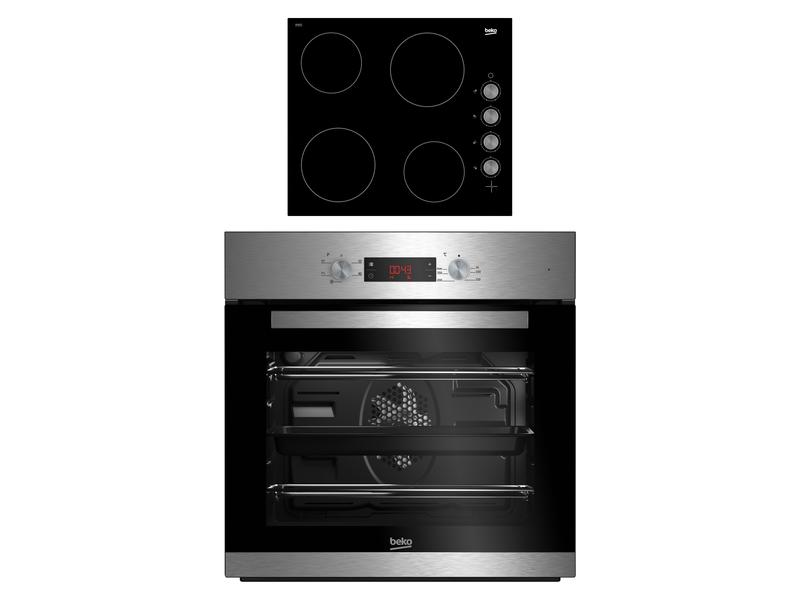 Beko ELEOVENHOBKIT CIF81X and CIHV21B Built In Single Oven and Ceramic Hob Package