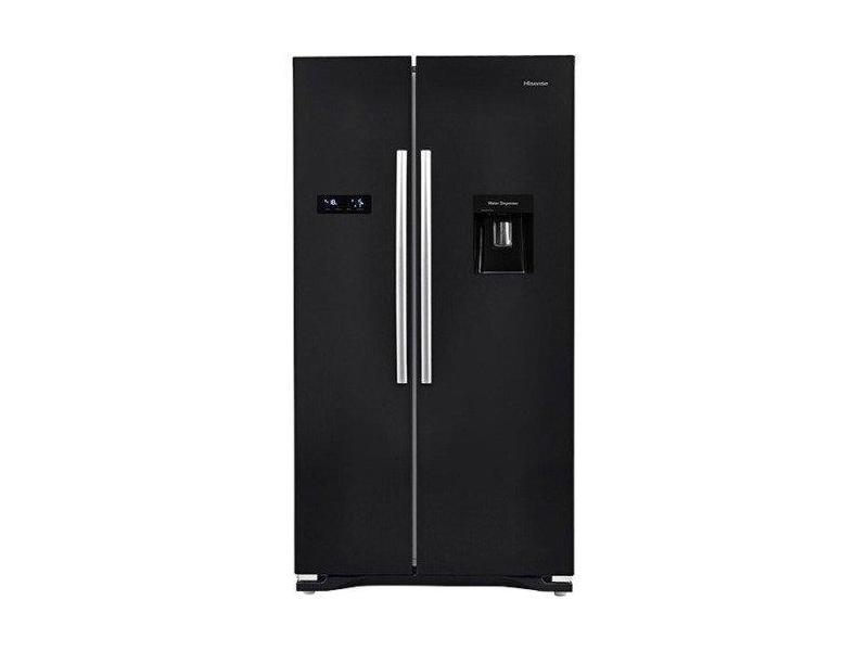 Hisense RS723N4WB1 American Style Fridge Freezer - Black - A+ Rated