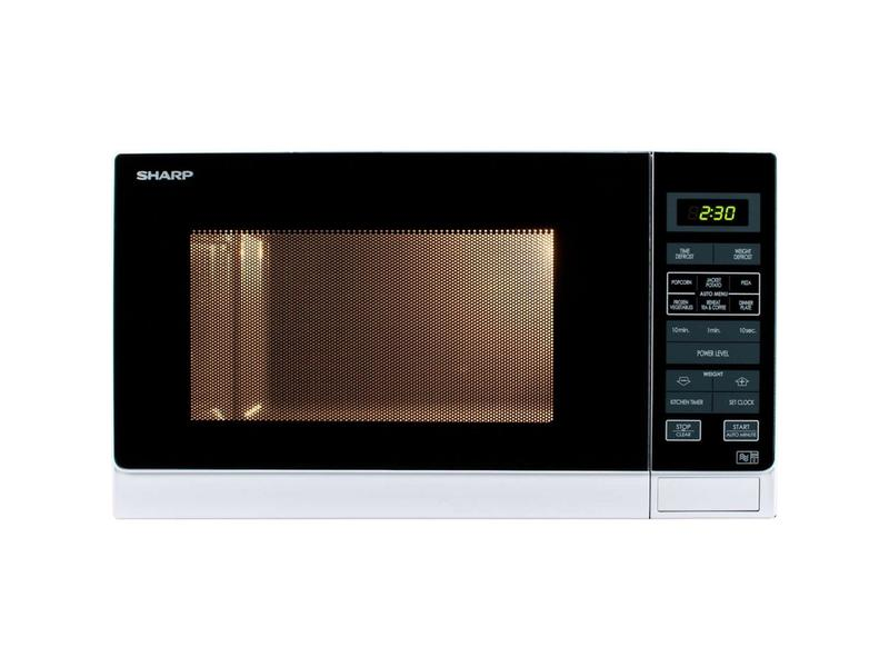 Sharp R372WM 25 Litre Solo Microwave - White