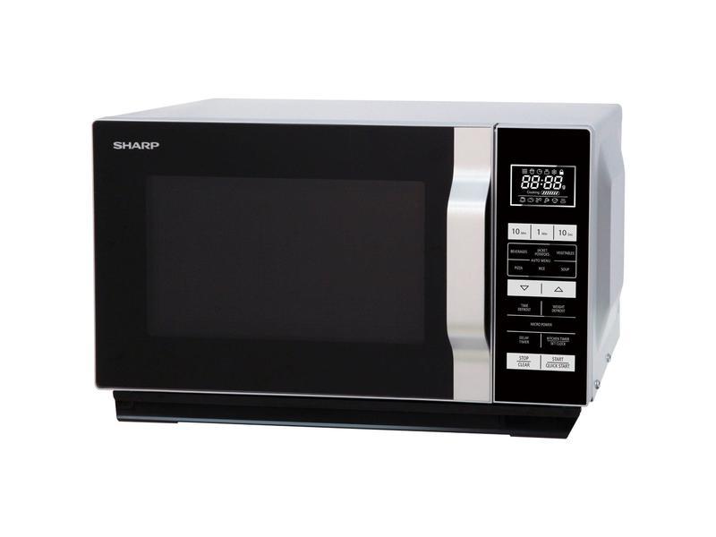 Sharp R360SLM 23 Litre Solo Microwave - Silver